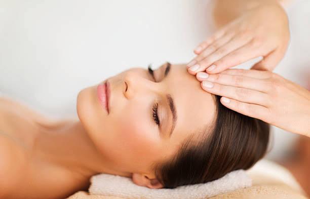 woman getting facial massage